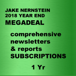 "JAKE BERNSTEIN  NEWSLETTER SUBSCRIPTION MEGADEAL  1 YR   <br><br>  <p style=""color:red;"">REG PRICE $3,284<br> MEGADEAL $1,495<br>SAVE $1,696</p>"